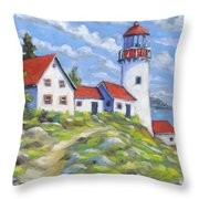 Paradise On The Point Throw Pillow
