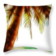 Paradise Palm Throw Pillow