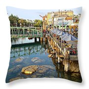 Paradise Pier At California Adventure Throw Pillow