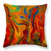 Paradise Sands On Palace Walls Throw Pillow
