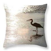 Paradise Silhouette  Throw Pillow