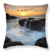 Paradise Sunset Splash Throw Pillow