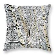 Parallel Beauties Throw Pillow
