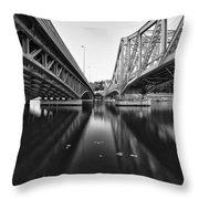 Parallel Bridge Throw Pillow
