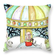 Parallel Carousel Throw Pillow