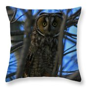 Parallel Leanings - A Hooter Study Throw Pillow
