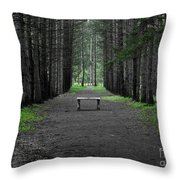 Parallel Pines Throw Pillow