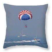 Parasailing In Florida Throw Pillow