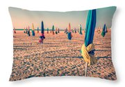 Parasols Of Deauville Throw Pillow