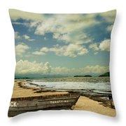 Paraty Beach, So. America Throw Pillow