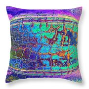 Parched Earth Abstract Throw Pillow