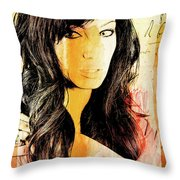 Parchment Beauty Throw Pillow