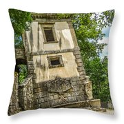 Parco Dei Mostri, Park Of The Monster, In Bomarzo Throw Pillow