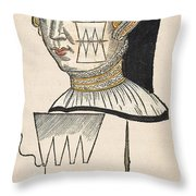 Pare Suture, 1500s Throw Pillow