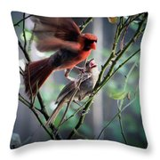 Parenting In The Wild Throw Pillow