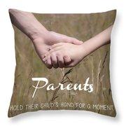 Parents For A Lifetime Throw Pillow
