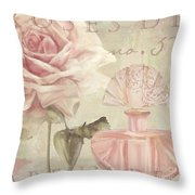 Parfum De Roses I Throw Pillow