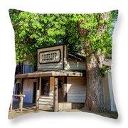 Parimount Ranch Sheriff Office Throw Pillow