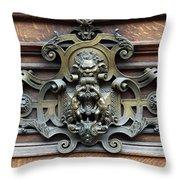 Paris - 19th Century Brass Door Knocker Throw Pillow