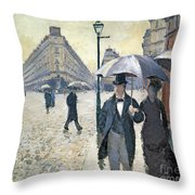 Paris A Rainy Day Throw Pillow