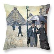 Paris A Rainy Day Throw Pillow