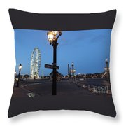 Paris At Dawn Throw Pillow