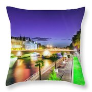 Paris At Night 16 Art Throw Pillow