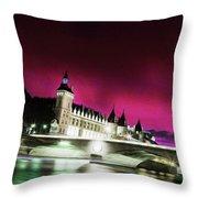 Paris At Night 18 Art Throw Pillow