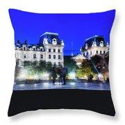 Paris At Night 21art Throw Pillow
