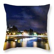 Paris At Night 23 Throw Pillow