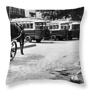 Paris: Boulevard De Clichy Throw Pillow by Granger
