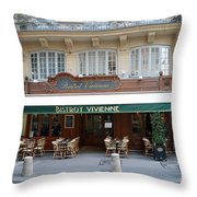 Paris Cafe Bistro Vivienne - Paris Cafes Bistro Restaurant-paris Cafe Galerie Vivienne Throw Pillow