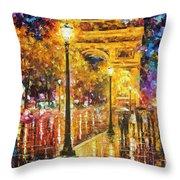 Paris - Campos Elises Throw Pillow