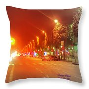 Paris Champs-elysees Throw Pillow