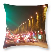Paris Champs-elysees Unedited Throw Pillow