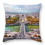Paris City View 19 Art Throw Pillow