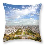 Paris City View 20 B Throw Pillow