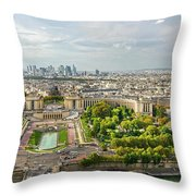 Paris City View 27 Throw Pillow