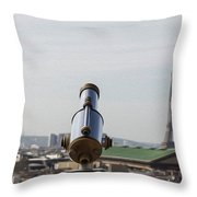 Paris City View 28 Throw Pillow