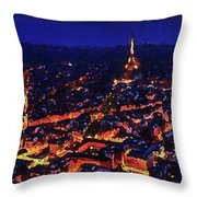 Paris City View Throw Pillow