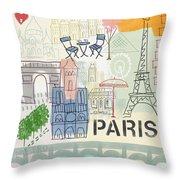 Paris Cityscape- Art By Linda Woods Throw Pillow