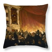 Paris: Comedie Francais Throw Pillow