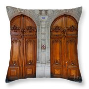 Paris Doors Throw Pillow