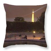 Paris Evening Throw Pillow