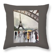 Paris Fog Throw Pillow