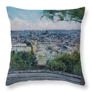 Paris From The Sacre Coeur Montmartre France 2016 Throw Pillow