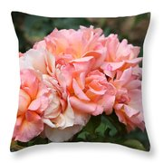 Paris Garden Roses Throw Pillow