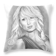Paris Hilton Throw Pillow