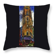 Paris Hotel 7 Avenue Throw Pillow