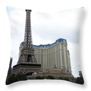 Paris Hotel Throw Pillow